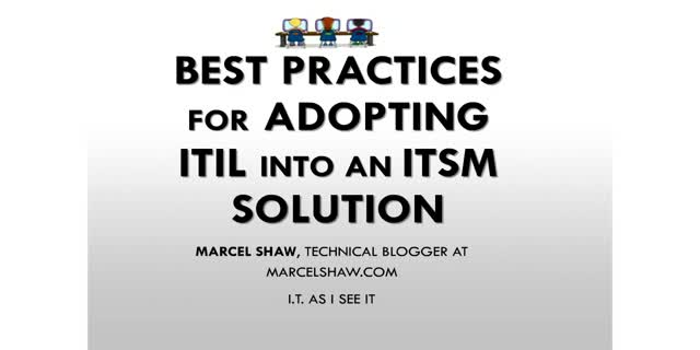 Best Practices for Adopting ITIL into an ITSM Solution