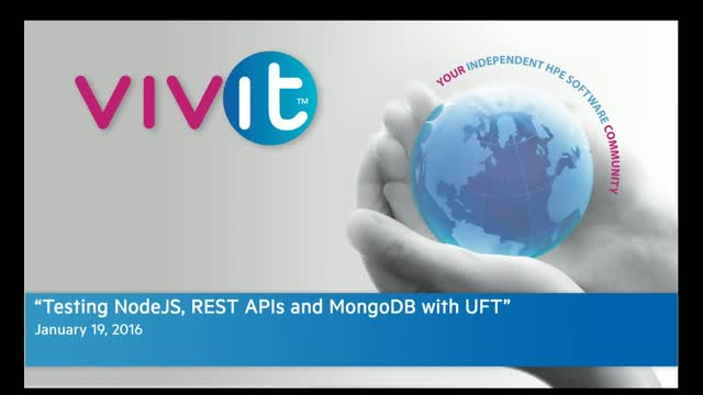 Testing NodeJS, REST APIs and MongoDB with UFT