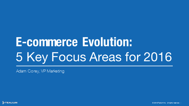 The E-commerce Evolution: Five Key Focus Areas for 2016