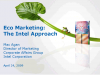 Eco-Marketing: The Intel Approach
