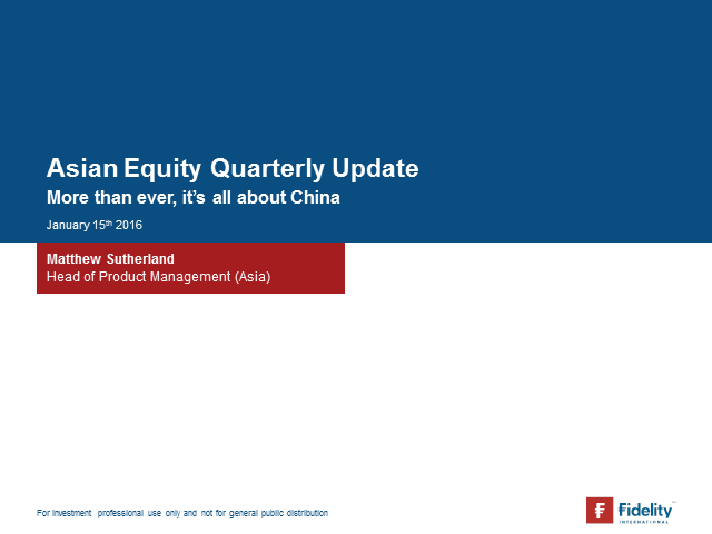 Asia Equity Quarterly Update