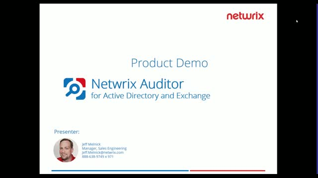 Product Demo: Netwrix Auditor 7.1. Active Directory and Exchange Auditing