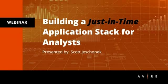 Building a Just-in-Time Application Stack for Analysts