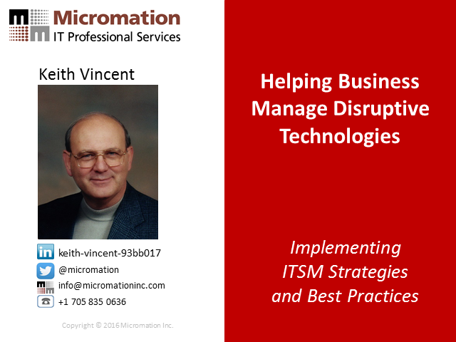 Helping Business Manage Disruptive Technologies