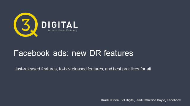 Facebook ads: the skinny on new DR features