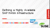 Defining a Highly Available SAP Infrastructure