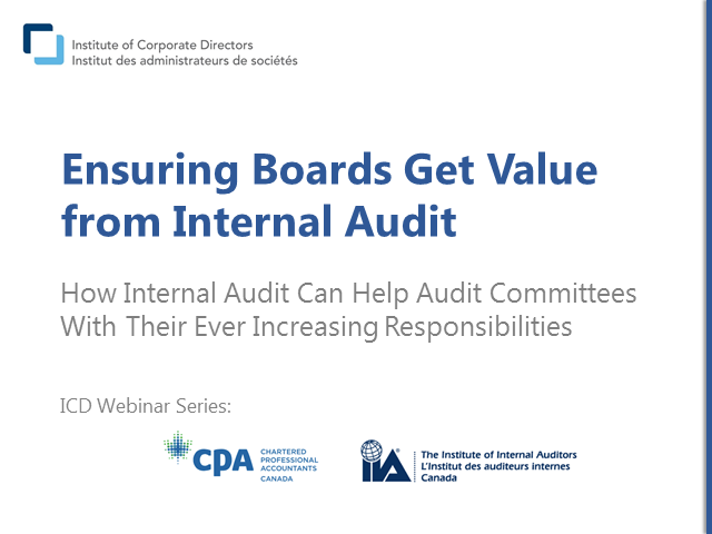 Ensuring Boards get Value from Internal Audit
