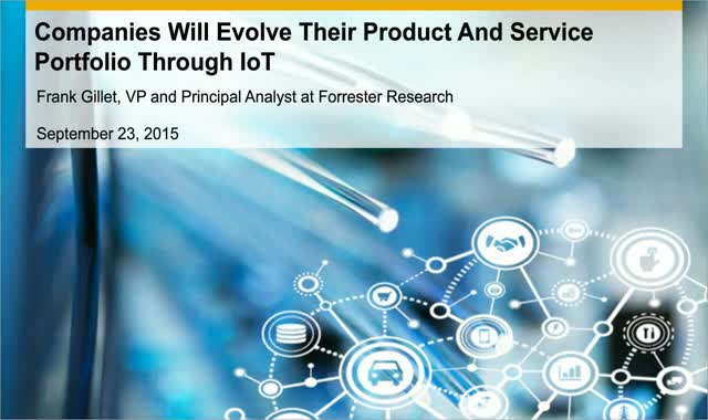 OEMs Will Evolve Their Product And Service Portfolio Through IoT