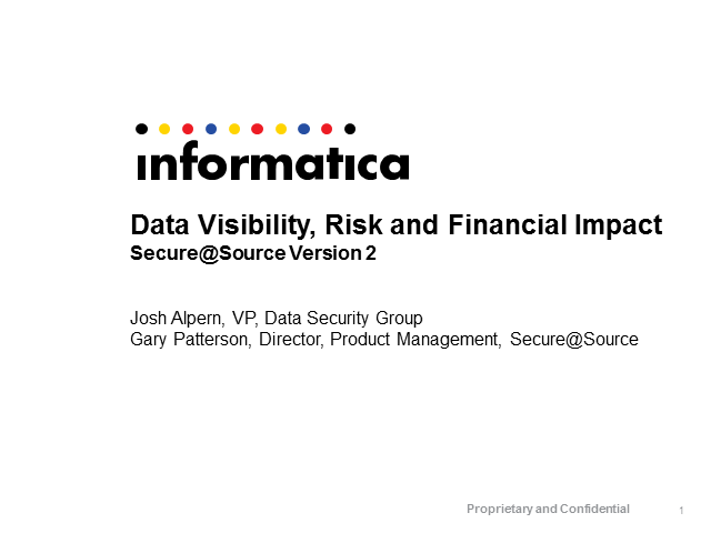 Data Visibility, Risk and Financial Impact: Secure@Source V2