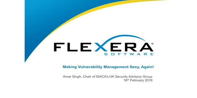 Making Vulnerability Management Sexy, Again!