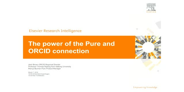 The Power of the Pure -ORCID Connection