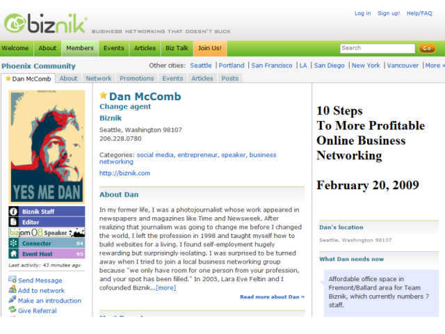 10 Steps To More Profitable Online Business Networking