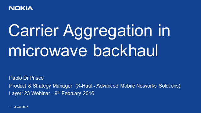Carrier Aggregation in Microwave Backhaul