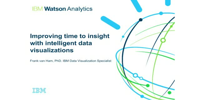 Improving time to insight with intelligent data visualizations