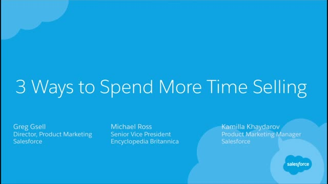 3 Ways to Spend More Time Selling