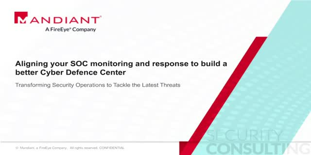 Aligning your SOC monitoring and response to build a better Cyber Defence Center