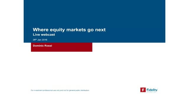 Where equity markets go next