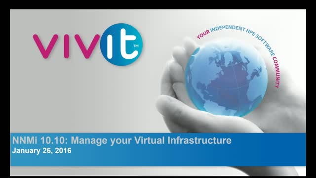 NNMi 10.10: Manage your Virtual Infrastructure