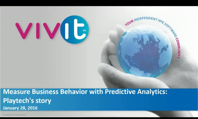 Measure Business Behaviour with Predictive Analytics: Playtech's story