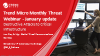 January Monthly Threat Webinar - Destructive Attacks to Critical Infrastructure