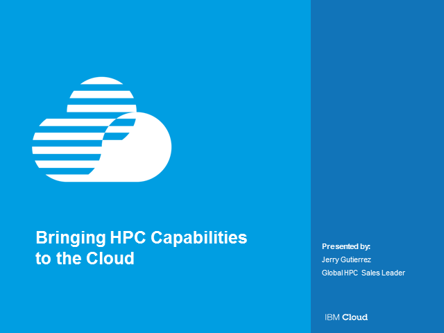 Drive performance for your HPC workloads in the Cloud