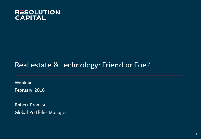 Technology & Real Estate: Friend or Foe?