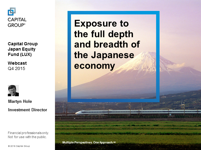 Capital Group Japan Equities (LUX) Q4 2015 Quarterly Update
