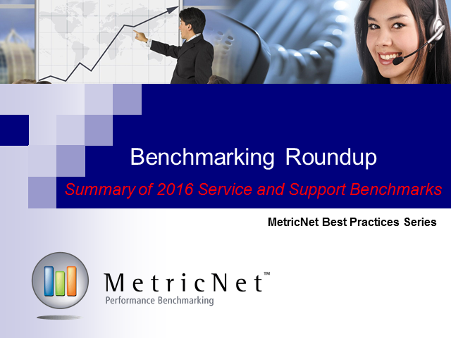 Benchmarking Roundup: Summary of 2016 Service and Support Benchmarks