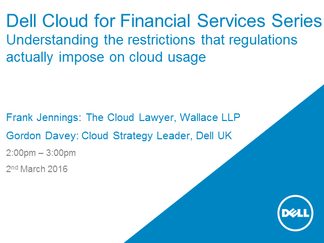 Understanding the restrictions that regulations actually impose on cloud usage