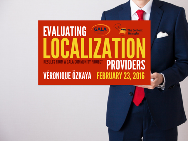 Evaluating Localization Providers: Results from a GALA Community Project