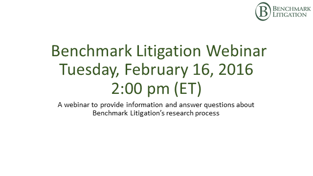 Benchmark Litigation-Your Research Questions Answered