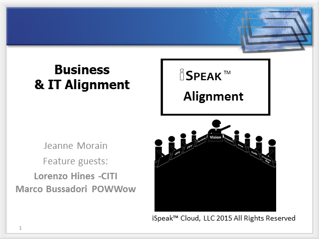 iSpeak™: IT and Business Alignment