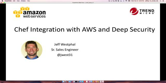 Chef integration with AWS and Deep Security