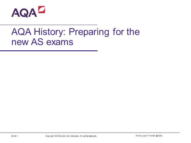 AQA History: Preparing for the new AS exams