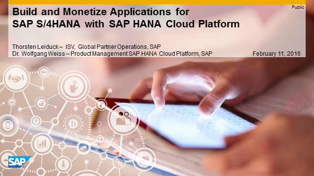 Build SAP S/4HANA Extensions with SAP HANA Cloud Platform