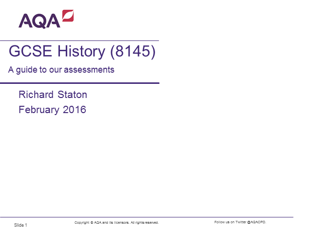 AQA History: Understanding the new GCSE History assessments