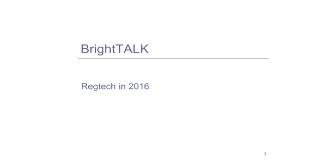 Regtech in 2016: New Frameworks and Legislations You Need to Know About