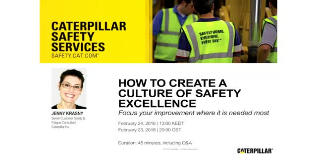 How to Create a Culture of Safety Excellence
