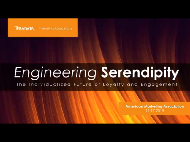 Engineering Serendipity: Individualized Loyalty for the Segment of One