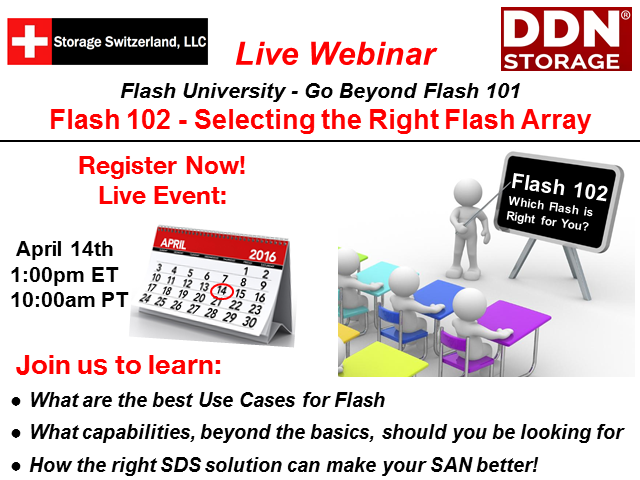 Getting Beyond Flash 101 - Flash 102 Selecting the Right Flash Array
