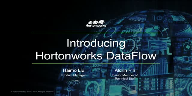 Manage Streaming Dataflows in Real-Time with HDF