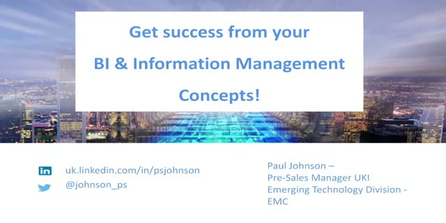 Get success from your BI and Information Concepts!
