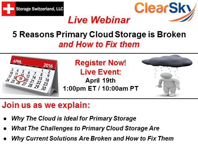 5 Reasons Primary Cloud Storage is Broken and How to Fix them