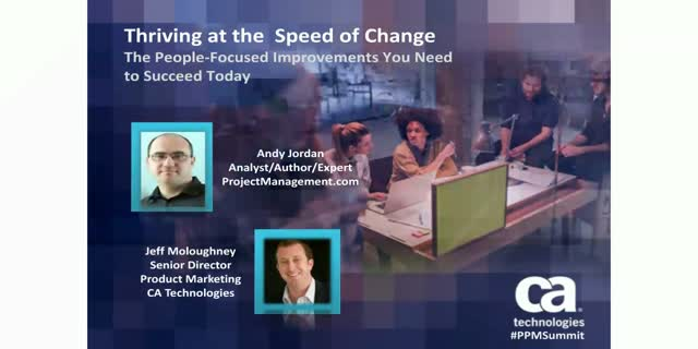 Thriving at the Speed of Change: The people focused improvements you need - 1PDU