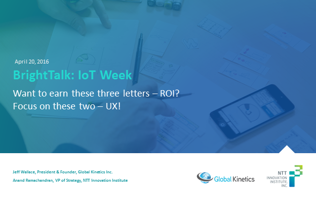 Want to earn these three letters - ROI? Focus on these two - UX!