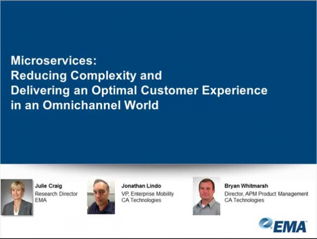 Microservices: Reducing Complexity in an Omnichannel World