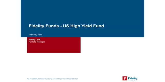 Webcast : Point sur le fonds FF US High Yield Fund