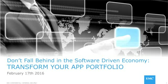Don't Fall Behind in the Software Driven Economy: Transform your App Portfolio