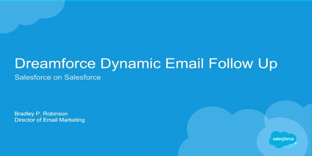 How Salesforce Uses Marketing Cloud: Dreamforce Follow-Up