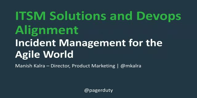 Bringing ITSM solutions and Devops alignment: Incident Management for the agile